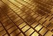 3d rendering of gold bullions.