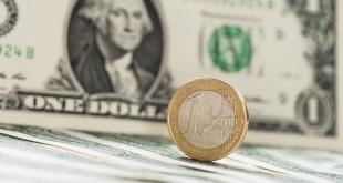 EUR/USD exchange rate concept (detailed close-up shot)